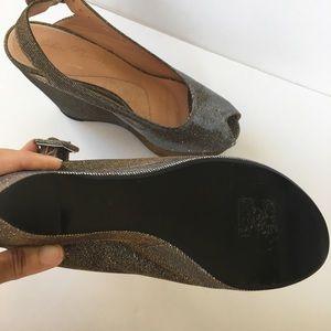 Robert Clergerie Shoes - Robert Clergerie metallic platform sandals